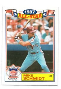 Mike Schmidt Trading Card SIngle 1988 Topps All Star Commemorative #15