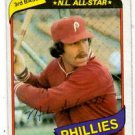 Mike Schmidt Trading Card Single 1980 Topps 270 Phillies