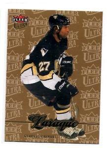 Georges Laraque Gold Medallion 2007-08 Fleer Ultra #44 Penguins