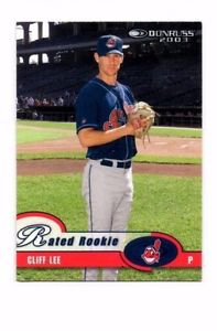 Cliff Lee Rated Rookie Trading Card 2003 Donruss #24 Indians