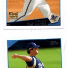 Mat Gamel Trading Card Lot of (2) 2009 Topps #71 Brewers