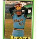 Paul MItchell Trading Card Single 1981 Donruss #205 Brewers