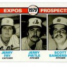 Jerry Fry Jerry Pirtle Scott Sanderson RC 1979 Topps #720 Expos