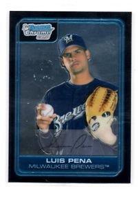 Louis Pena Trading Card 2006 Bowman Chrome #BC29 Brewers