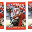 Anthony MIller Trading Card Lot of (3) 1990 Pro Set #356 Chargers