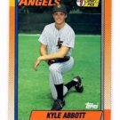 Kyle Abbot RC Trading Card Single 1990 Topps #444 Angels