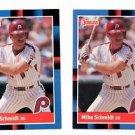 Mike Schmidt Trading Card Lot of (2) 1988 Donruss #330 Phillies