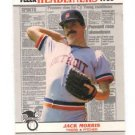 Jack Morris Trading card Single 1988 Fleer Headliners #3 Tigers