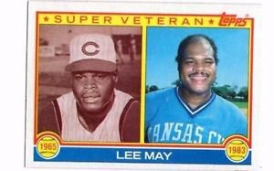 Lee May Trading Card Single Super Vet 1983 Topps 378 Royals NMT