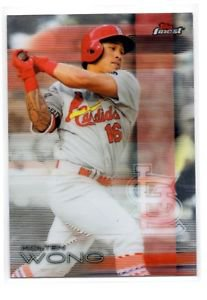 Kolten Wong Trading Card Single 2016 Topps Finest #92 Cardinals