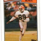 Gerald McNeil RC Trading Card Single 1987 Topps #94 Browns NMT