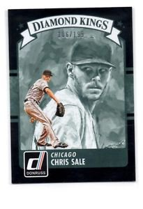 Chris Sale Black Diamond Kings 2016 Donruss #6 White Sox 186/199