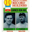 Dutch Leonard Walter Johnson Record Holders 1979 Topps #418