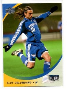 Eloy Colombano Trading Card Single 2008 Upper Deck MLS 139 Wizards