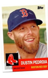 Dustin Pedroia Trading Card Single 2016 Topps Archives 74 Red Sox