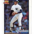 Alan Mills Trading Card Single 1991 Topps #651 Yankees