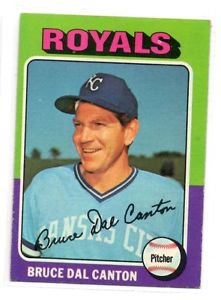 Bruce Del Canton Trading Card Single 1975 Topps #472 Royals EXMT