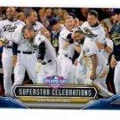 Derrick Norris Superstar Celebrations Single 2016 Topps Opening Day SC17 Padres
