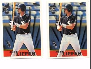 Jeff Liefer RC Trading Card Lot of (2) 1996 Topps #243 White Sox