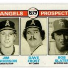 Jim Anderson Dave Frost Bob Slater RC 1979 Topps #703 Angels NMT