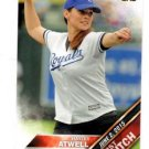 Hayley Atwell First PItch SIngle 2016 Topps #FP14 Royals