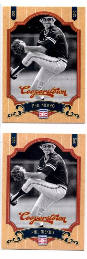 Philip Niekro Trading Card Lot of (2) 2012 Panini Cooperstown #57 Braves