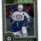 Blake Wheeler Trading Card Single 2014-15 UD OPC Platinum #73 Jets
