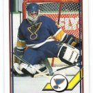 Vincent Riendeau Trading Card Single 1991-92 O-Pee-Chee #370 Blues