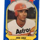 Jose Cruz Trading Card Single 1981 Fleer Star Sticker #78 Astros.
