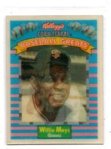 Willie Mays Trading Card single 1991 Sportflics Kellogs #3 Giants