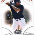 Abraham Almonte Trading Card SIngle 2008 Donruss Threads #97 Yankees