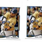 Juan Francsico Trading Card Lot of (2) 2014 Topps Mini Online Exclusvie #535