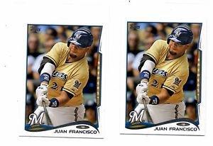 Juan Francsico Trading Card Lot of (2) 2014 Topps Mini Online Exclusvie #535