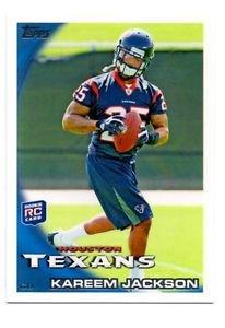 Kareem Jackson RC Trading Card 2010 Topps #2 Texans