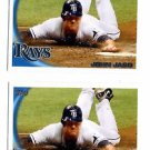 John Jaso Trading Card Lot of (2) 2010 Topps Update Series #US273 Rays
