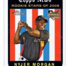 Nyjer Morgan RC Trading Card Single 2009 Topps Heritage #136 Pirates