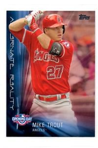 Mike Trout Alternate Reality Insert 2016 Topps Opening Day #AR8 Angels
