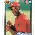 Carl Everett RC Trading Card Single 1991 Topps #113 Yankees