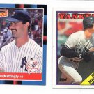 Don Mattingly Trading Card Lot of (2) 1988 Donruss & 1988 Topps #300 Yankees