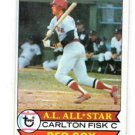 Carlton Fisk Trading Card Single 1979 Topps 680 Red Sox EX+