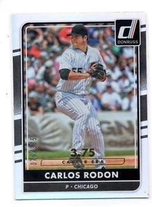 Carlos Rodon Career Stat Line  2016 Donruss #163 076/375 White Sox