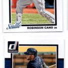 Robinson Cano Trading Card Lot of (2) 2014 Donruss #335 Yankees
