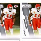 Chris Chambers Trading Card Lot of (2) 2009 Panini Prestige #96 Chiefs