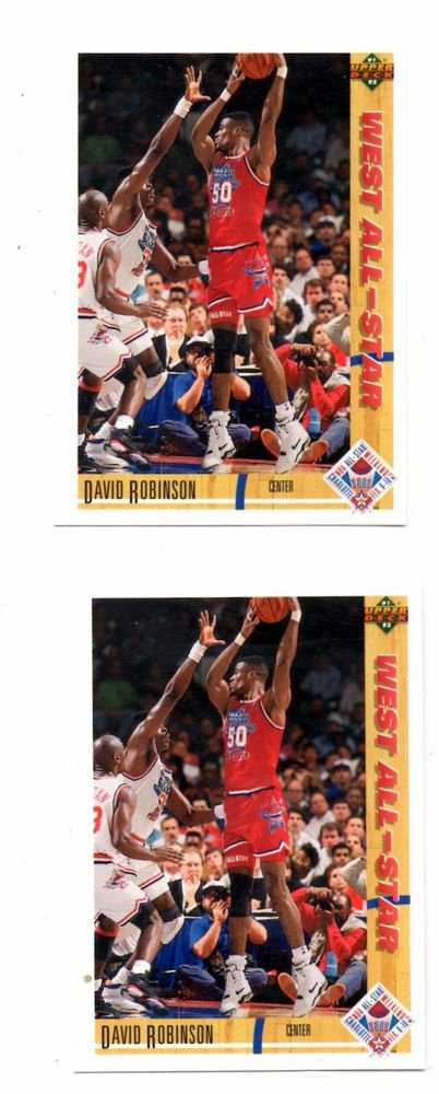 David Robinson Trading Card Lot of (2) 1991-92 Upper Deck #58 AS