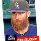 Charles Blackmon Trading Card Single 2016 Topps Archives #57 Rockies