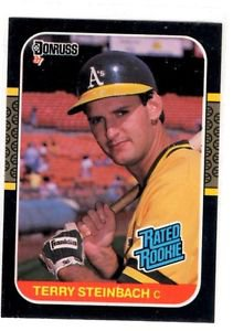Terry Steinbach Rated Rookie RC 1987 Donruss #34 Athletics