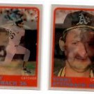 Terry Steinbach Trading Card Lot of (2) 1988 Sportflics #174 Angels