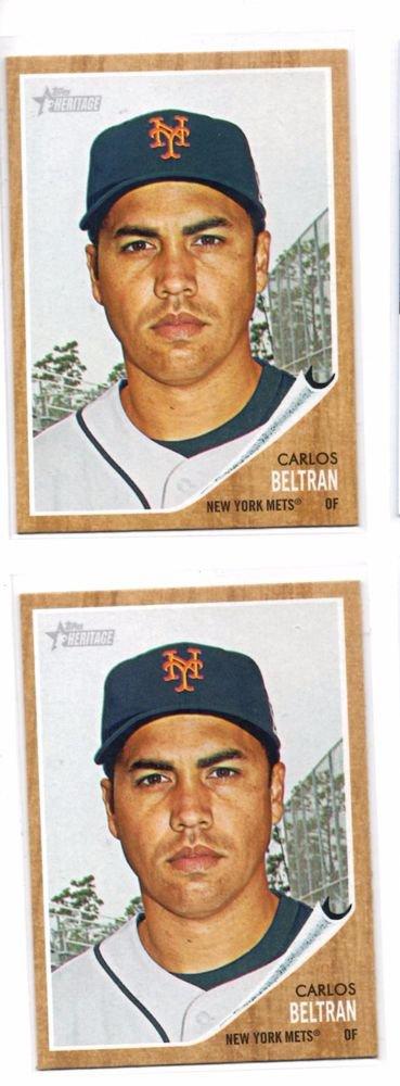Carlos Beltran Trading Card Lot of (2) 2011 Topps Heritage #7 Mets