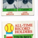 Lou Brock Trading Card Lot of (2) 1979 Topps #415 Cardinals EX+