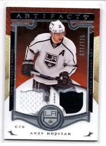 Anze Kopitar Dual Jersey 2015-16 UD Artifacts #103 KIngs 021/125